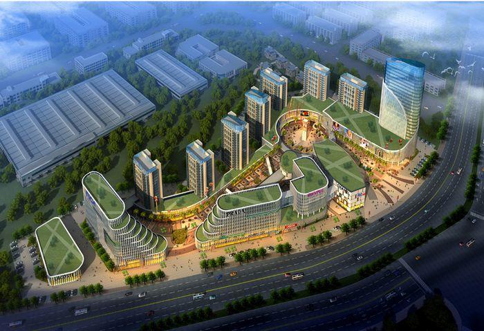 清镇物流新城华丰综合配套服务区建设项目-鸟瞰