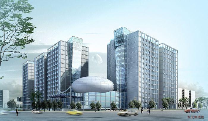 中铝科技大厦效果图日景