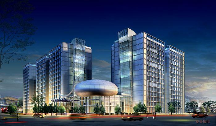 中铝科技大厦效果图夜景