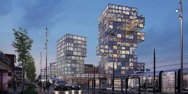 荷兰绿色住宅区设计,12栋楼个个不一样