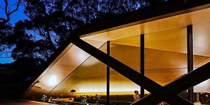 几何风的林间木屋