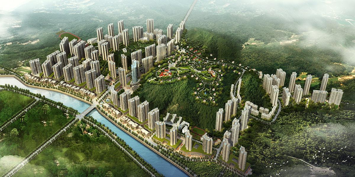 """都匀""""山水云城""""棚户区城乡规划建筑设计"""
