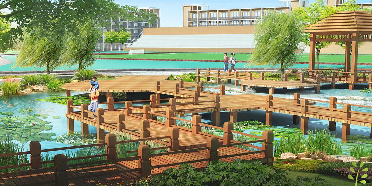 六枝特区第九中学景观设计